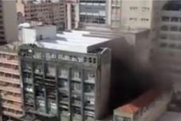 Incêndio atinge prédio do Jornal Folha de S. Paulo