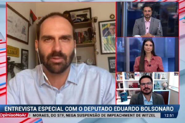 """Eduardo Bolsonaro sobre Lula: """"O presidente não está preocupado com adversários para 2022"""""""