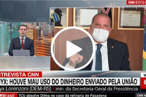 """Onyx Lorenzoni desmonta narrativa de âncora da CNN sobre pandemia: """"O senhor está mentindo"""""""