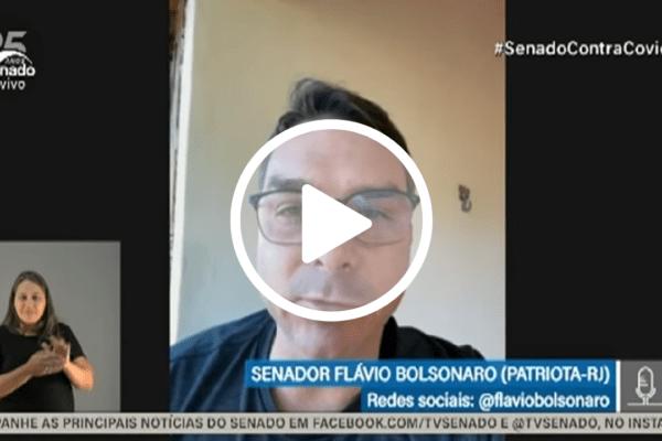Flávio Bolsonaro sobre Bolsonaro ter que dar exemplo