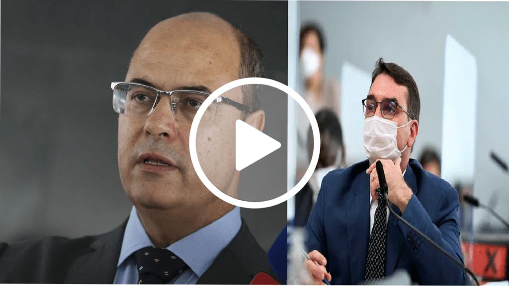 Senadores de oposição saem em defesa de Witzel em bate-boca com Flávio Bolsonaro