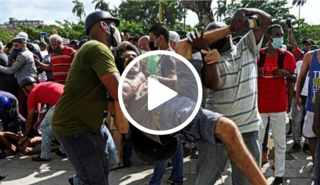 Cidadãos fazem protesto em Cuba contra governo comunista