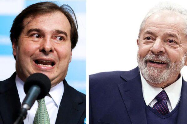 Ex-presidente Lula promete indicar Rodrigo Maia caso seja reeleito