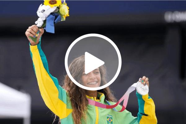 Rayssa Leal, a 'Fadinha' do Skate, conquista a medalha de prata para o Brasil